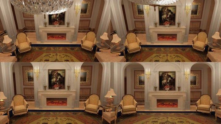 三维欧式室内壁炉火炉14图片
