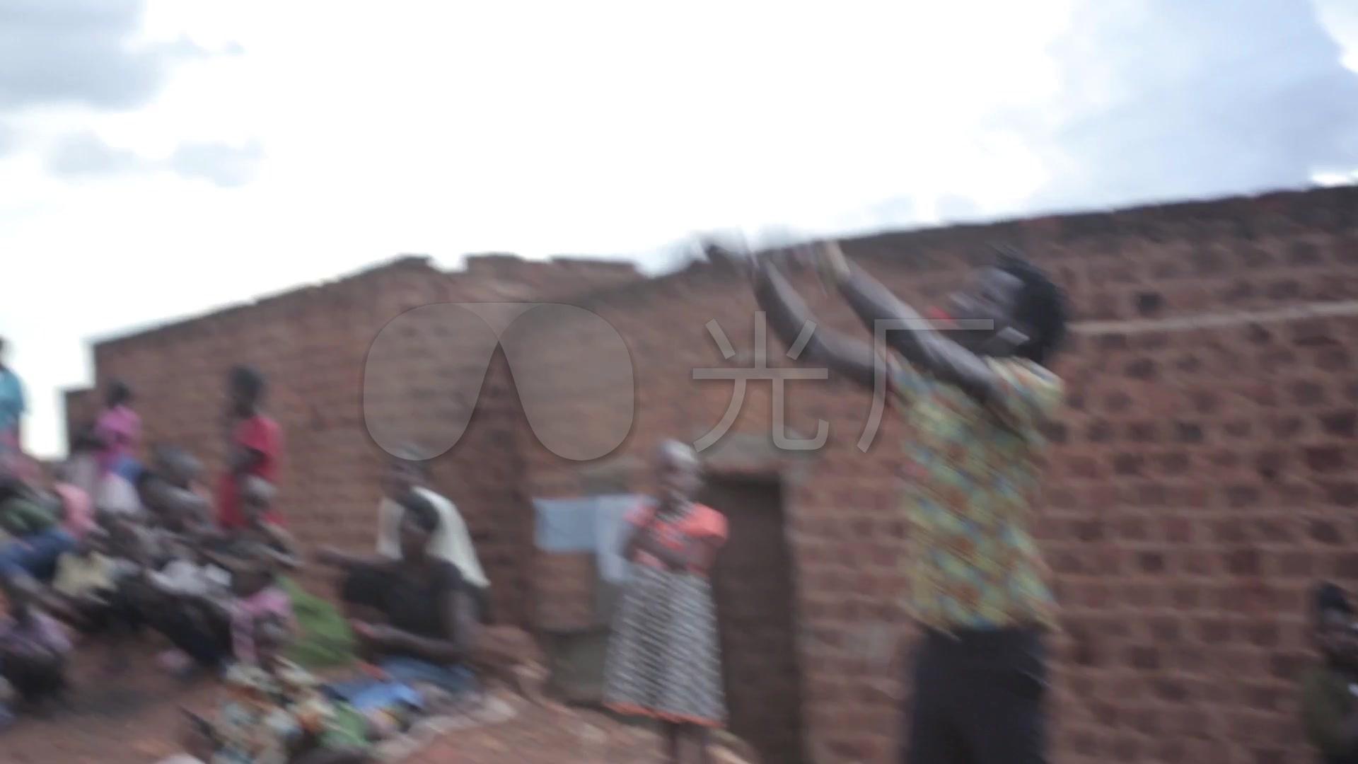 非洲貧困地區兒童生活實拍_1920x1080_高清視頻素材