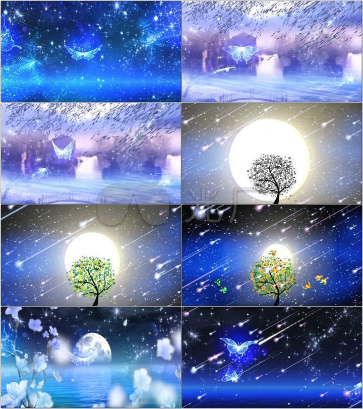 夜空中最亮的星歌曲配乐成品led视频
