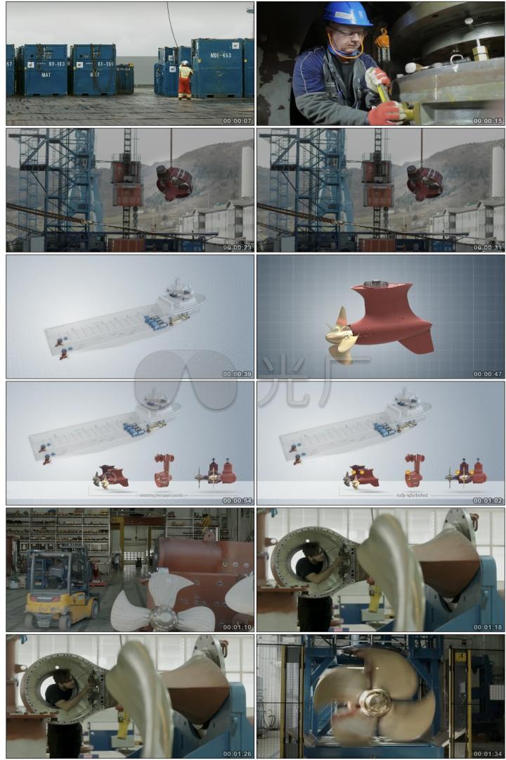 重工业金属钢材船厂机械螺旋桨发动机生产