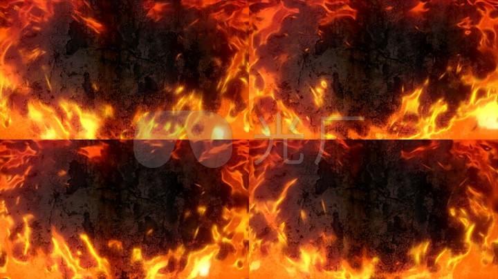 燃烧火焰视频特效