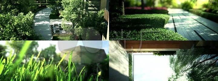 商务休闲景观小品三维动画