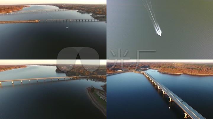 4K高清实拍克尔湖