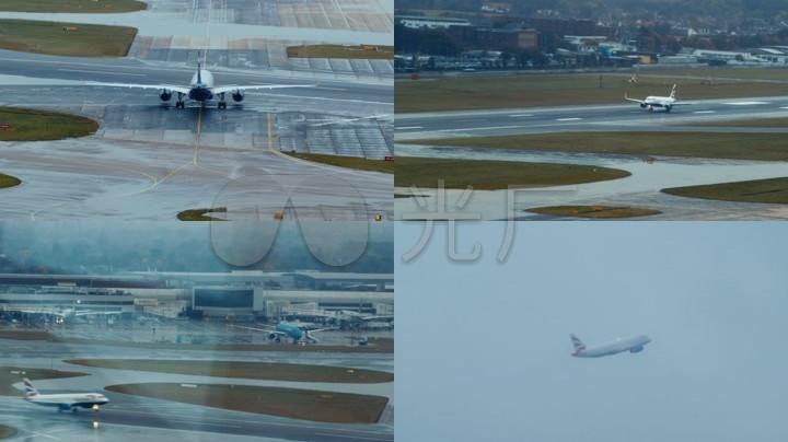 苹果航空机场_素材客机起飞降落飞机_视频_1画民航视频的素描视频教学教学图片