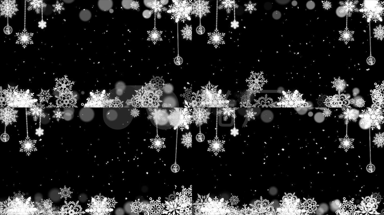 圣诞雪花边框素材