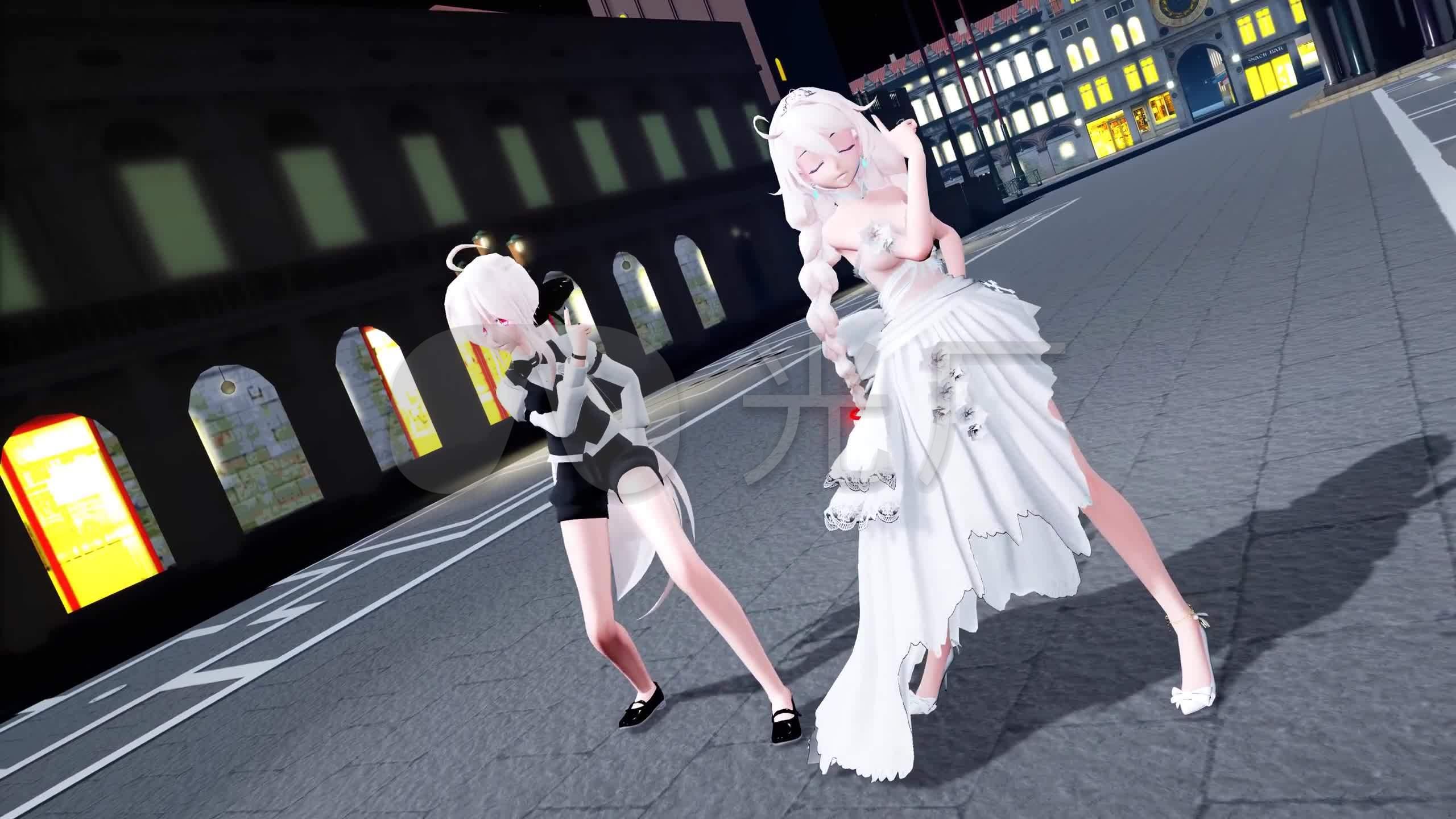 皮肤活泼背景动画性感动漫卡通_2560X1440_舞蹈女孩女生大图图片