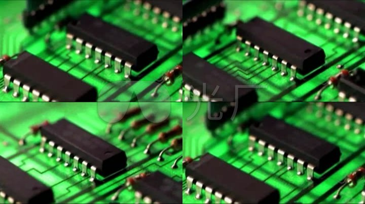 电脑电路板特写_1280x720_高清视频素材下载(编号:)