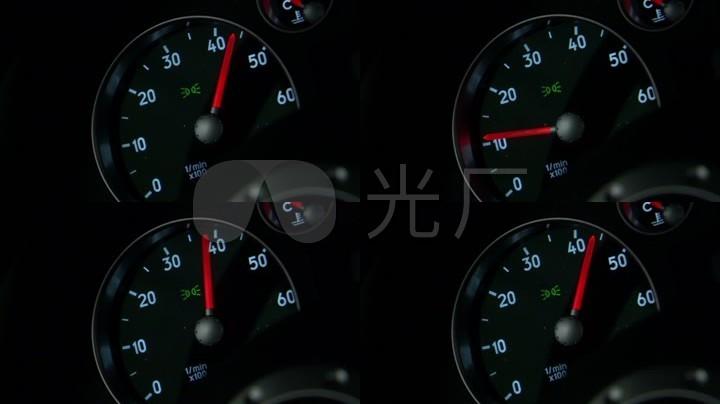 汽车里程表汽车速度表码表汽车仪表盘