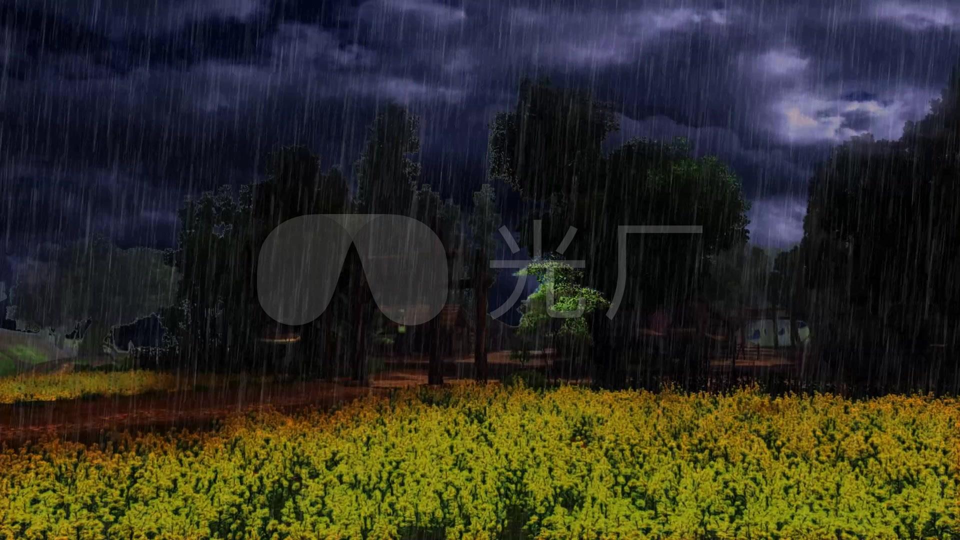 村口下雨_1920x1080_高清视频素材下载(编号:2043281)