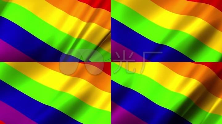 同性彩虹壁纸_彩虹旗彩虹旗背景彩虹布料同性恋骄傲