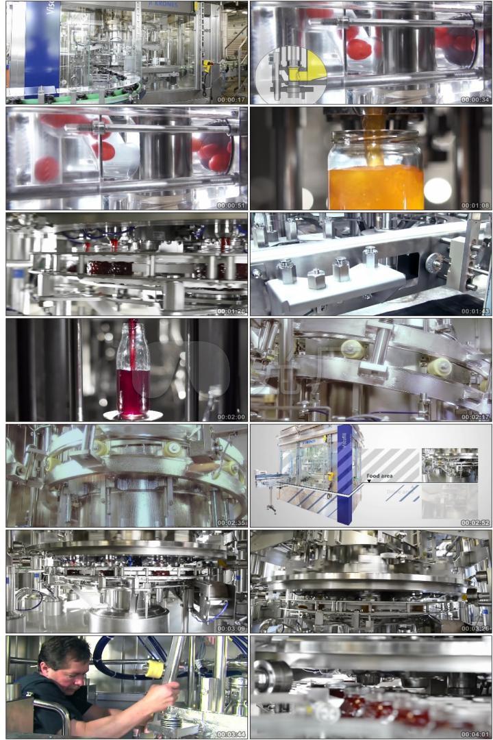 食品安全果汁果酱食品工厂加工生产车间流水