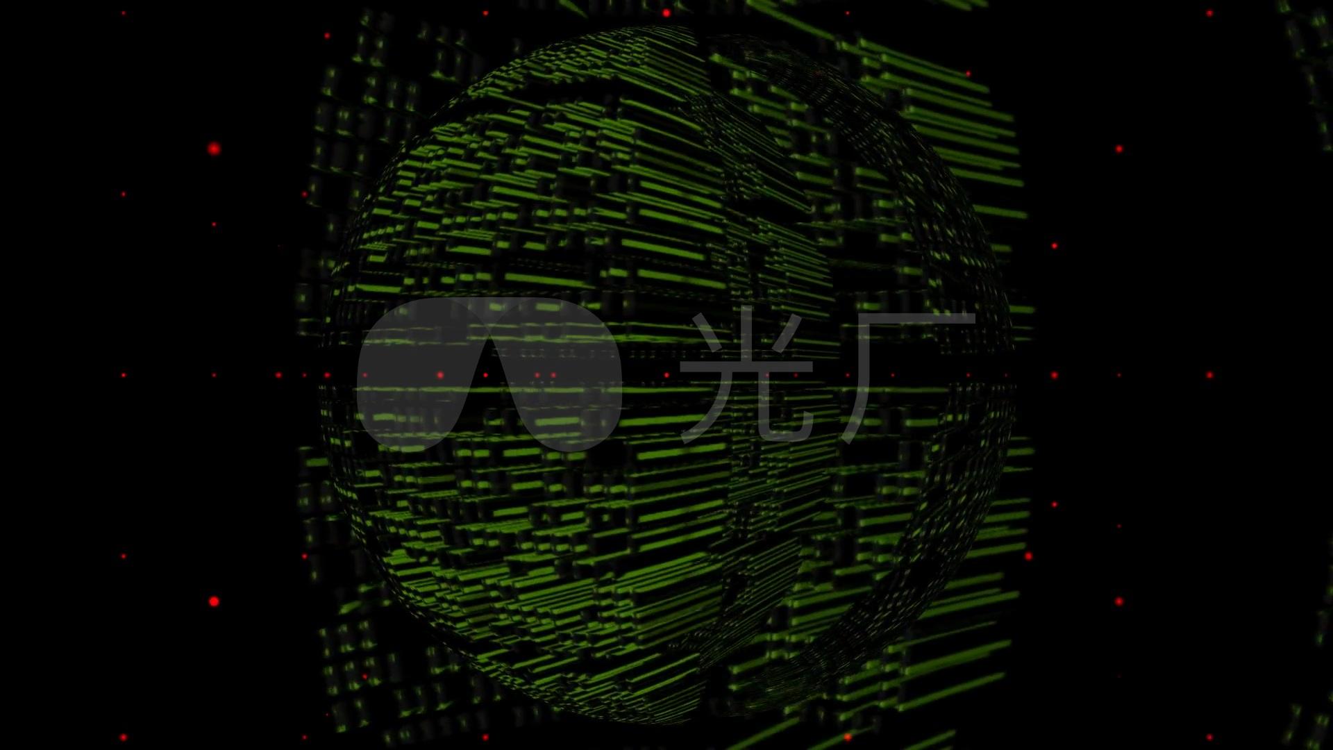 超级计算机黑客数据中心机房超级计算_1920x1080_高清