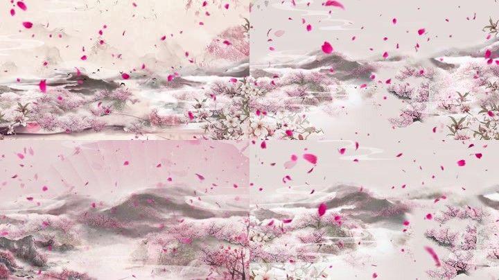 三生三世十里桃花桃花背景桃花花瓣飘落玫瑰花瓣古风风景唯美写意中国