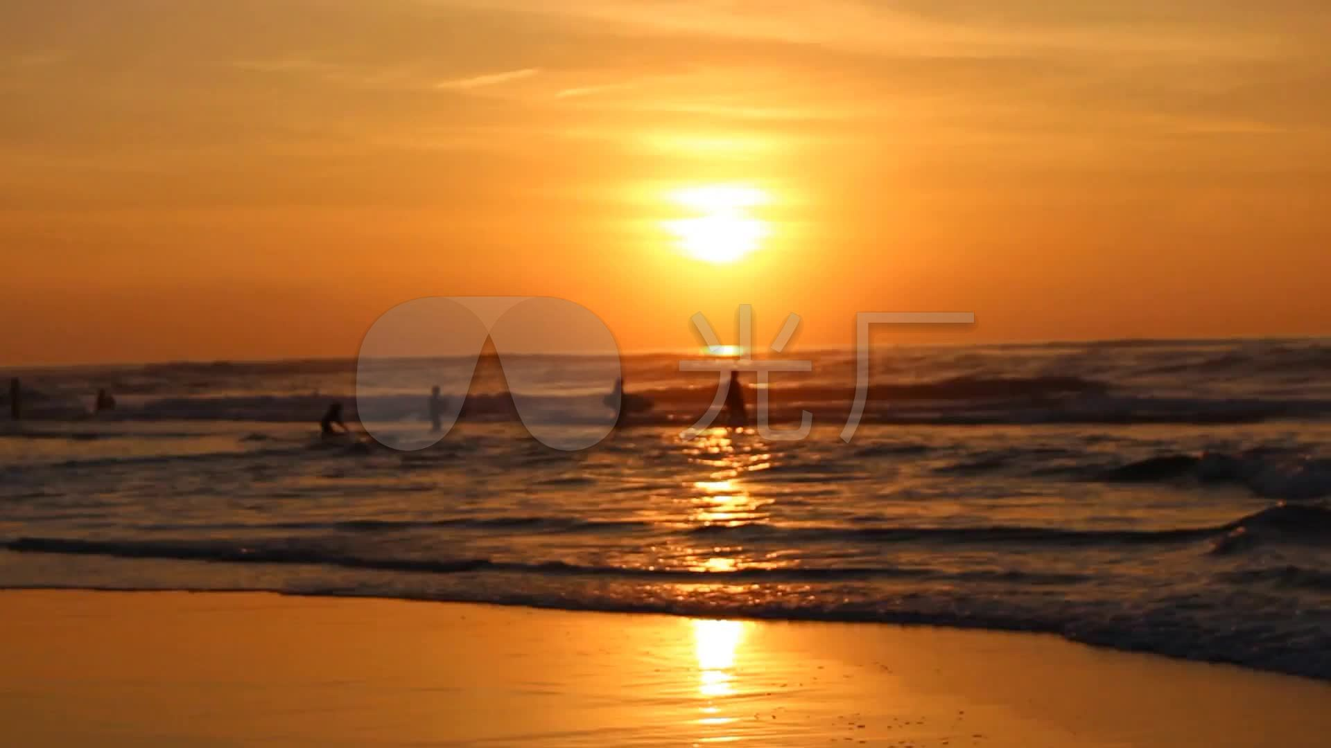 瑜伽 夕陽 日出 大海 鍛煉身體 晨練圖片