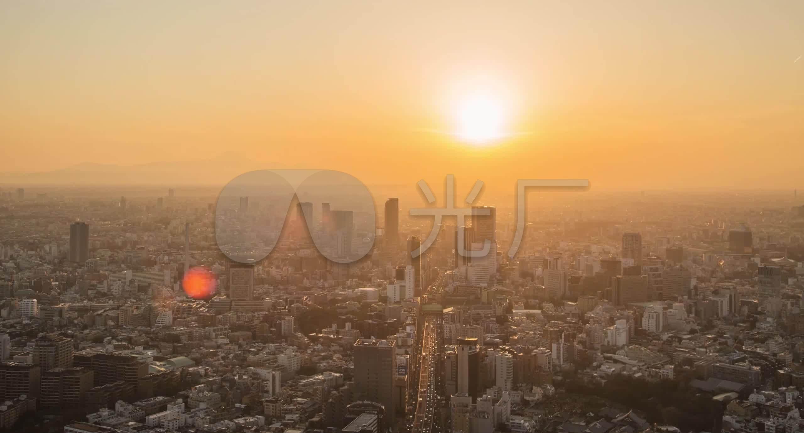 日本东京宣传片_航拍日本东京城市日出延时宣传片