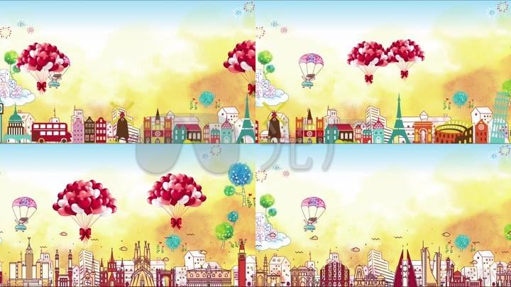已实名签约 奔跑卡通动画背景六一儿童节幼儿园素材早教学前教育卡通