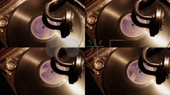 老式复古留声机素材胶片播放机4K视频_4096试驾车豪黑色图片