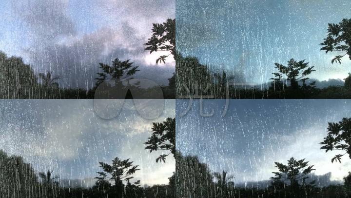雨中风景_1280x720_高清视频素材下载(编号:2251207)