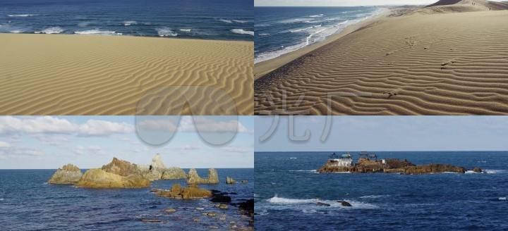 海湾沙滩环境优美人间天堂一望无垠大海海平面海边礁石海风海浪自然