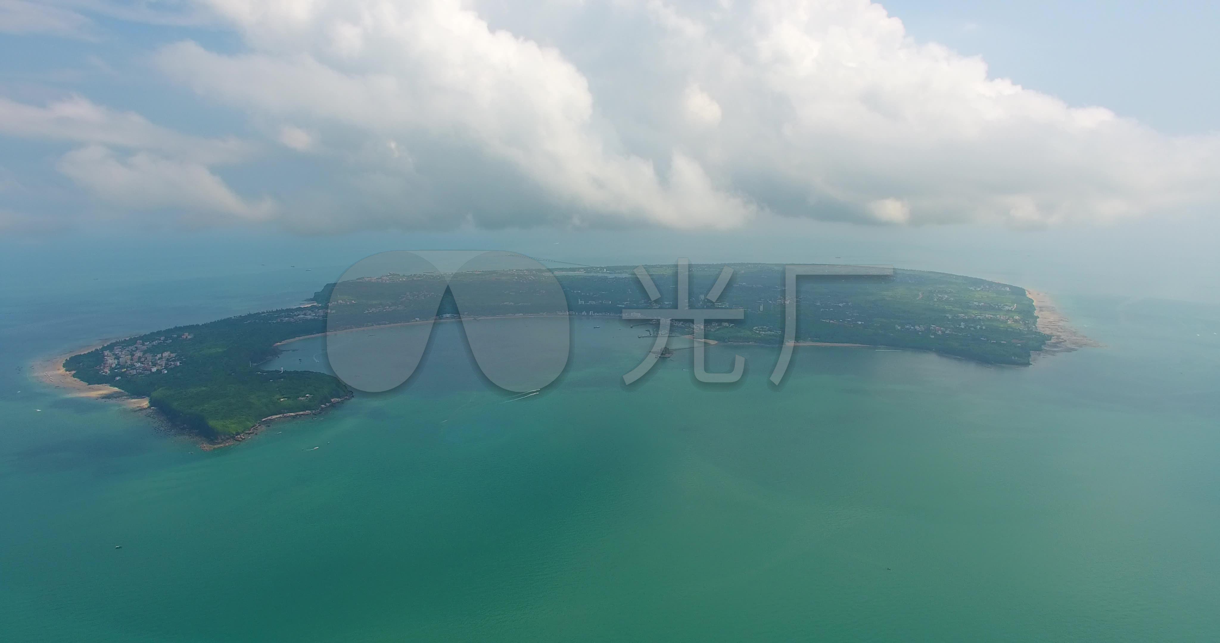 北海涠洲岛高空全景航拍_4096x2160_高清视频素材下载