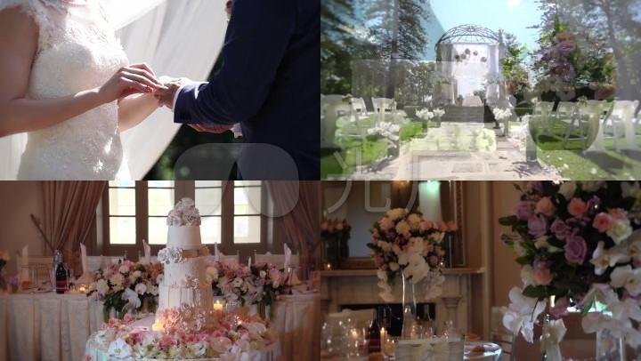 唯美浪漫婚礼通用素材