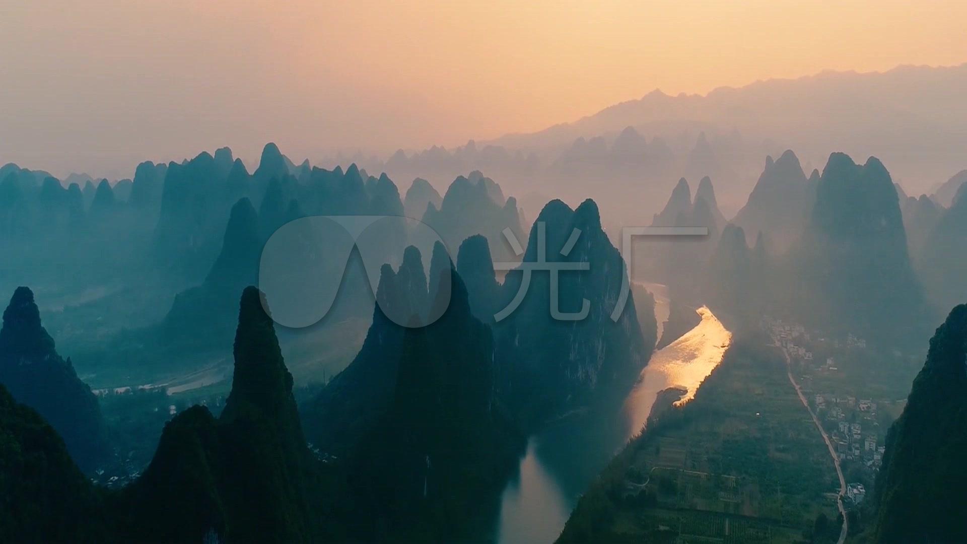 视频素材 实拍视频 景观人文 超高清锦绣山河中华山水风景视频  来自