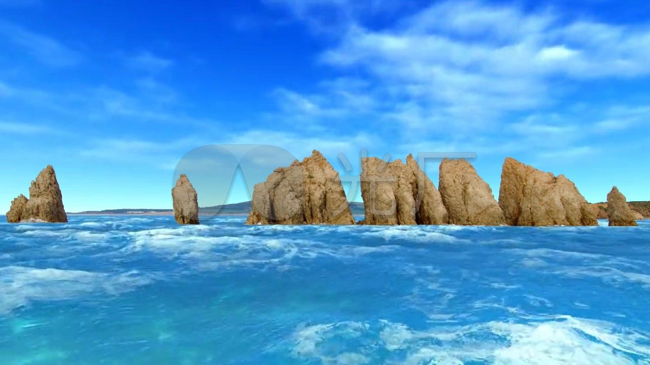 大连瓦房店驼山海滨高清风光_1280X720_青花元视频碰瓷排石图片