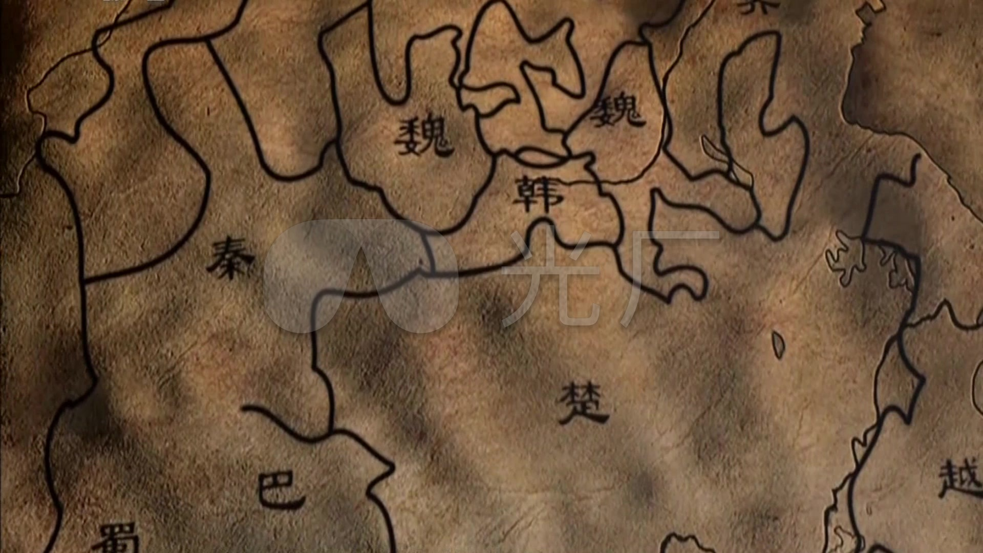 春秋时期周地图演变战国七雄对立版图古代地_