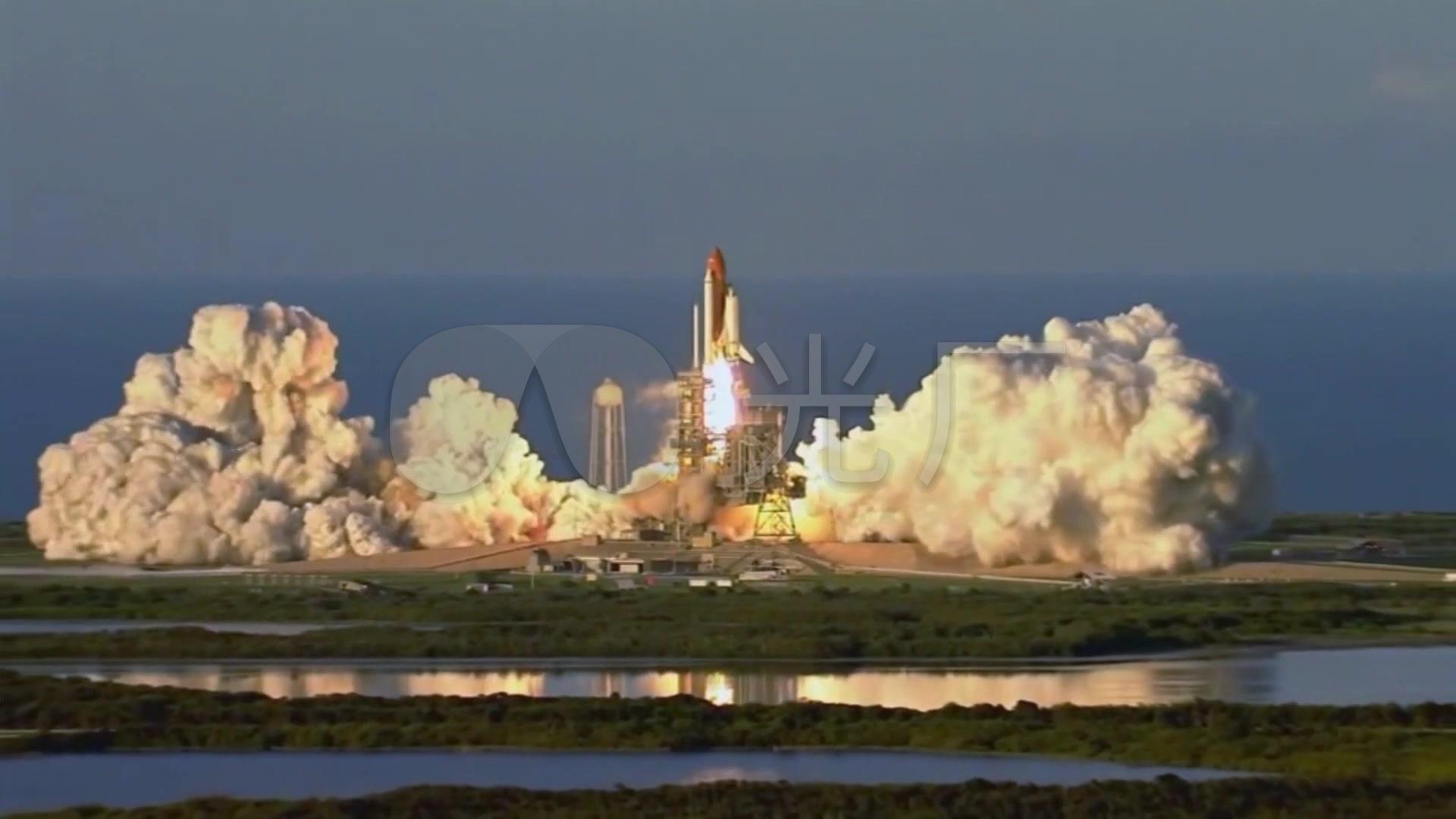 美国航天飞机_运载火箭发射升空实拍_宇航_1920x1080