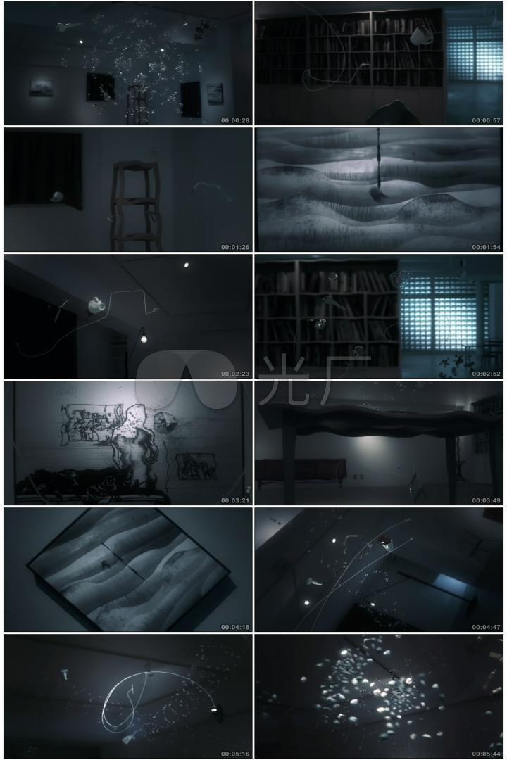 创意艺术空间室内家具家私空间浮空音乐视频