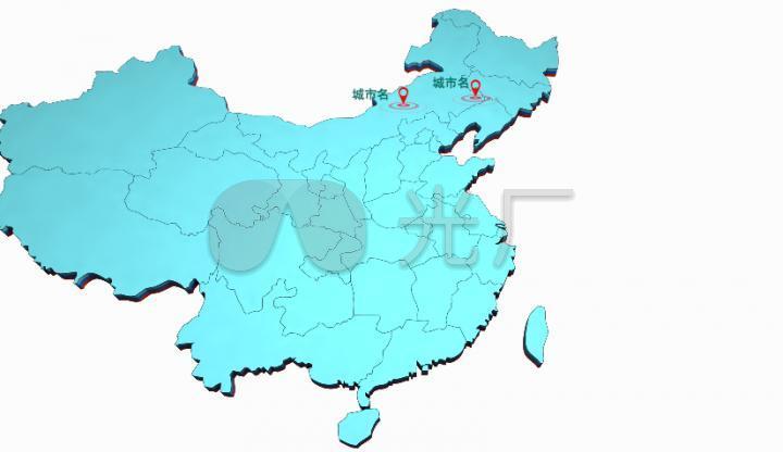中国城市地图_中国地图城市定位坐标