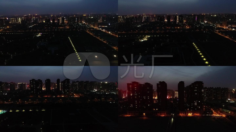 城市夜景西安夜景大明宮夜景圖片