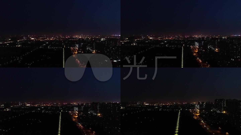 城市夜景西安夜景大明宮夜景樓房圖片