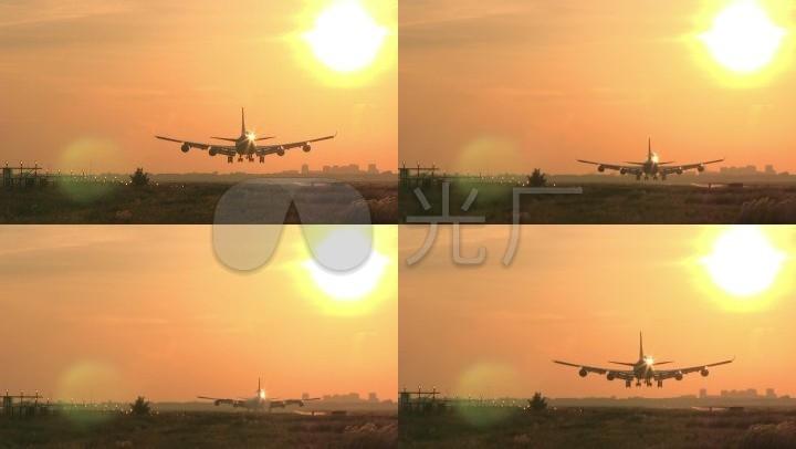 民航黄昏降落大型客机降落旅途客机_1920X1vc6.0安装教程图片