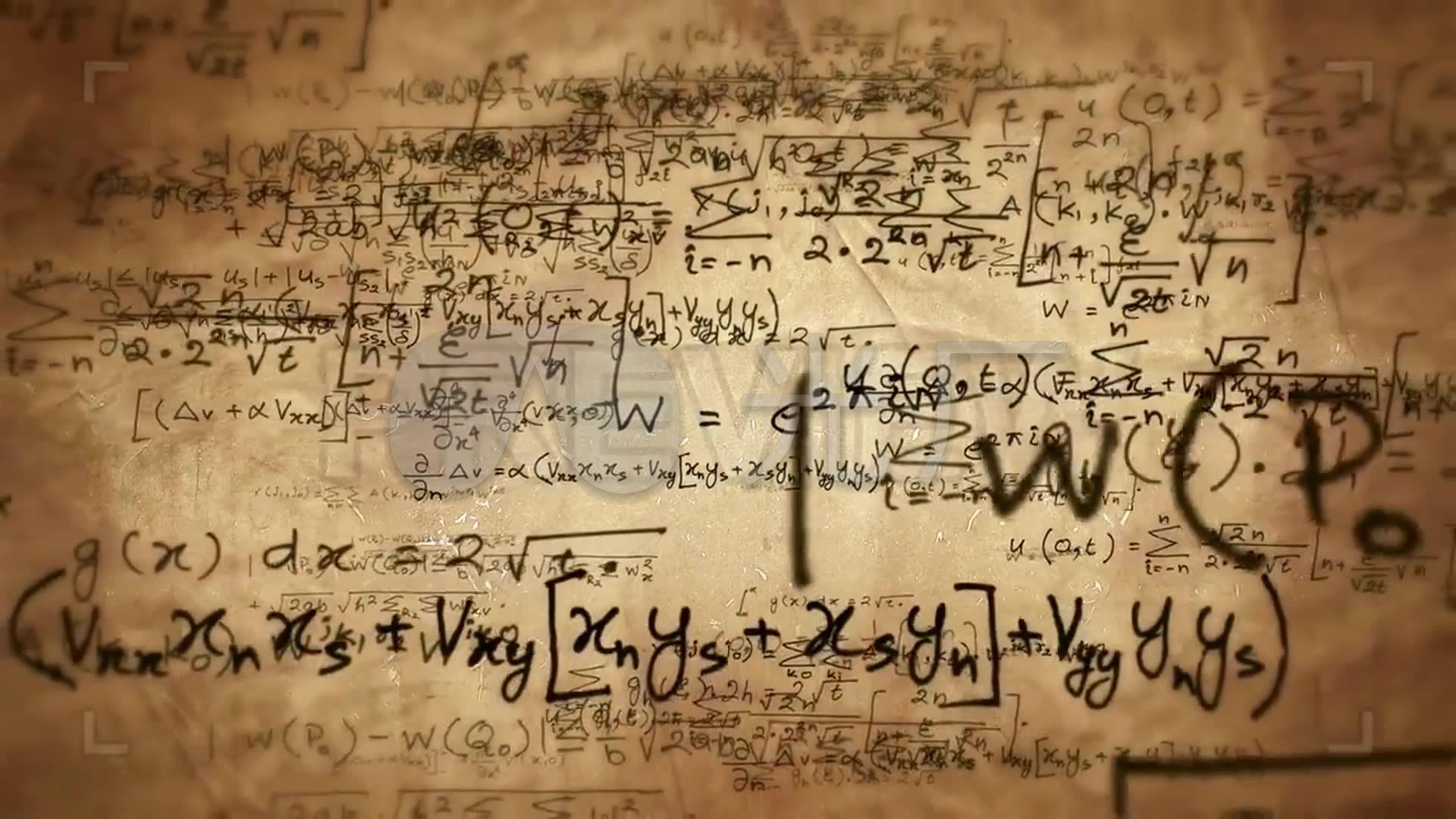 数学公式背景运动图形_1920x1080_高清视频素材下载图片