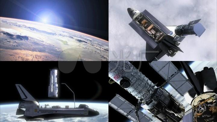航天飞机中的卫星对接_1920x1080_高清视频素材下载