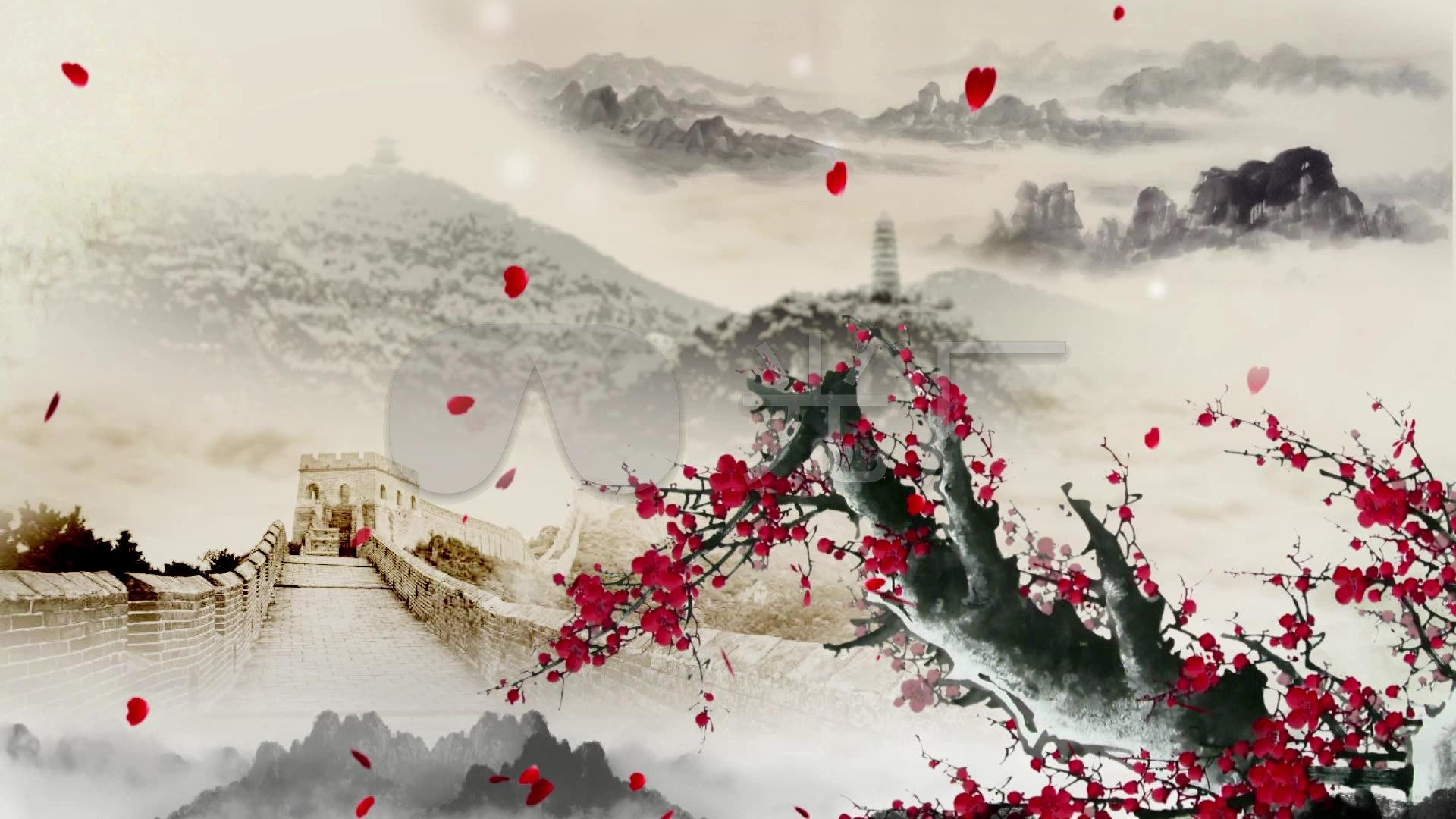 视频红梅赞大屏幕背景视频_1920X1080_高清歌曲翻唱的图片