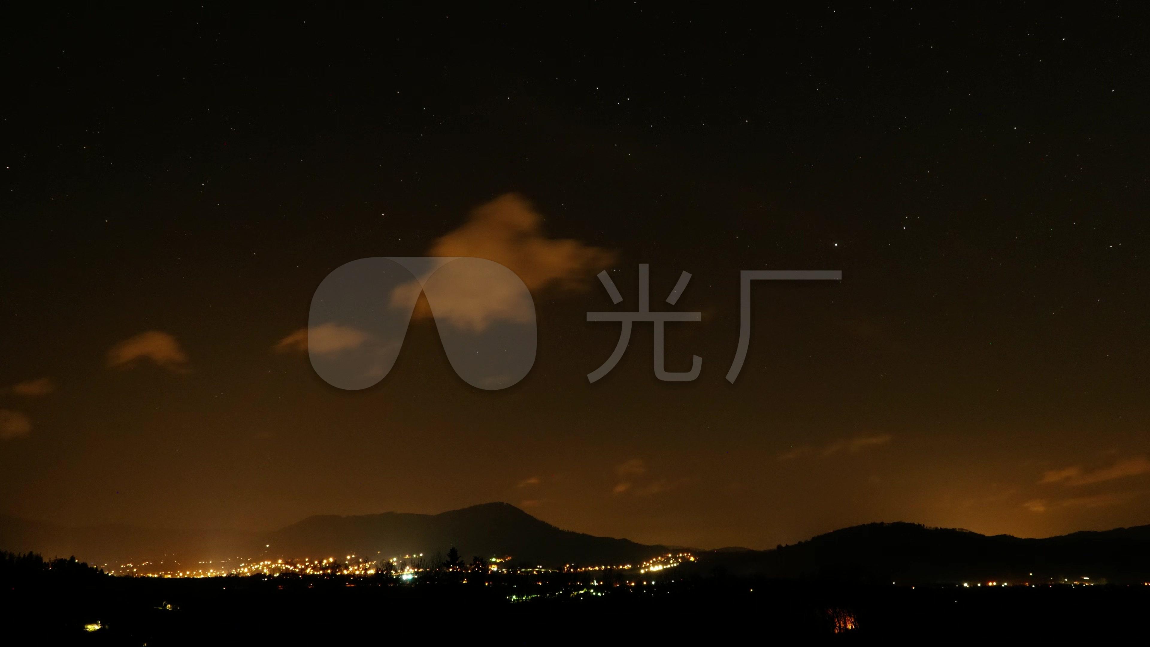 城市夜晚的天空图片
