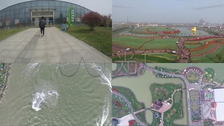 学校春游春天风景