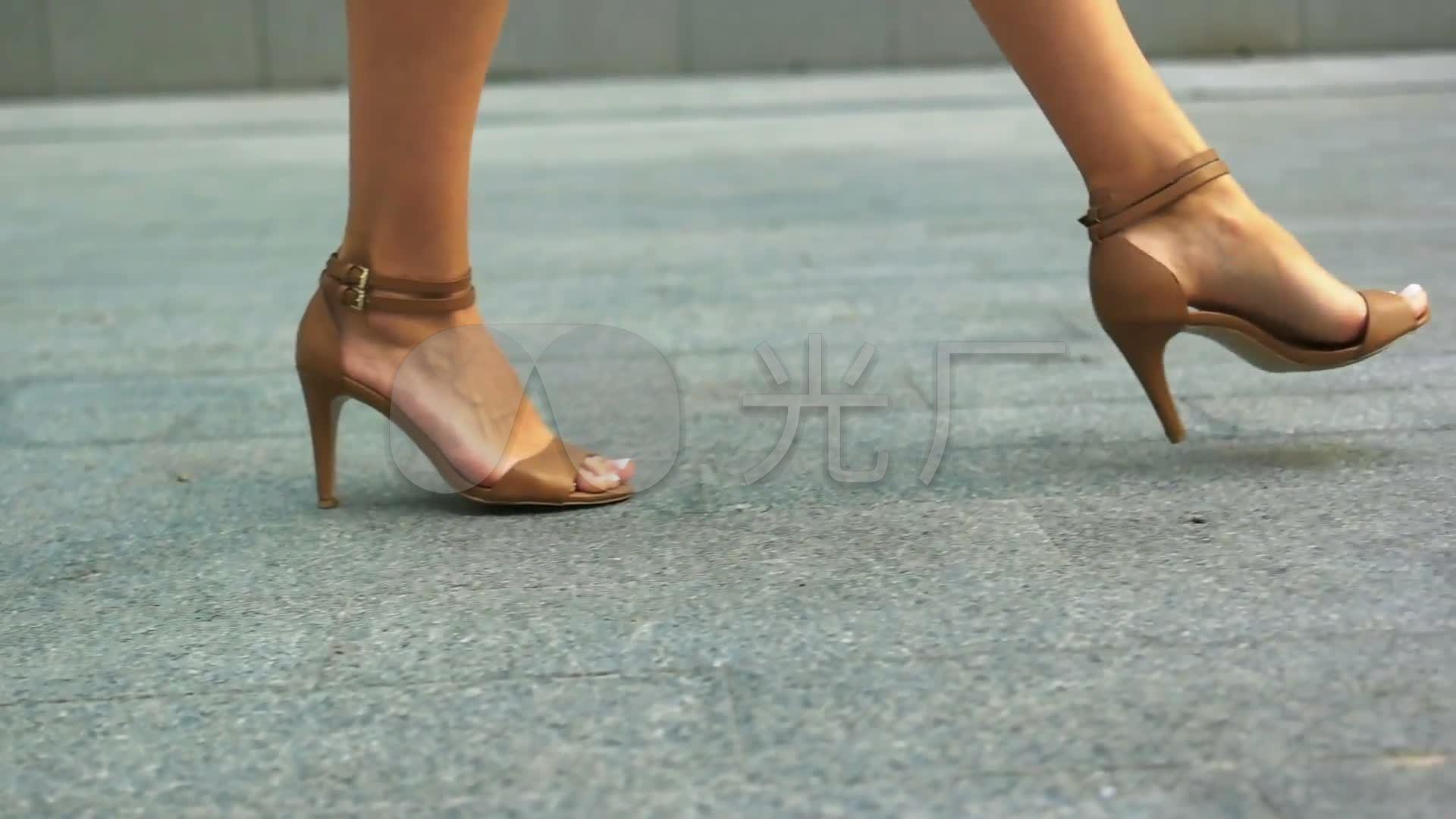 高跟鞋白领走路美女鞋子_1920X1080_高清视第一美女襄阳图片
