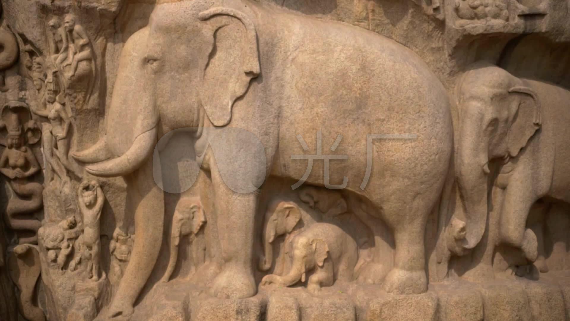 印度僧人雕_文化大象_房子巨石世界石刻_192我的僧侣佛像内部设计图图片