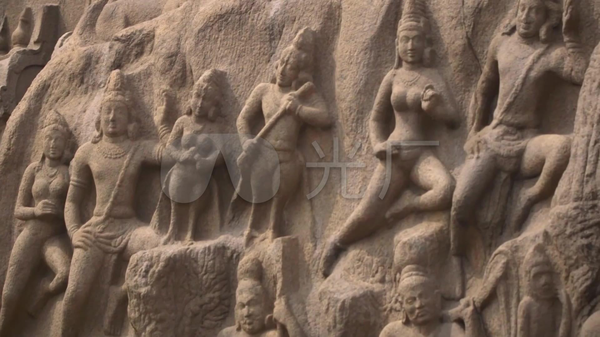 印度文化雕_佛像巨石_石刻僧人大象僧侣_192浩森建筑设计院有限公司v文化图片