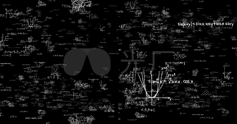 数学方程式数学公式白色带通道4k图片