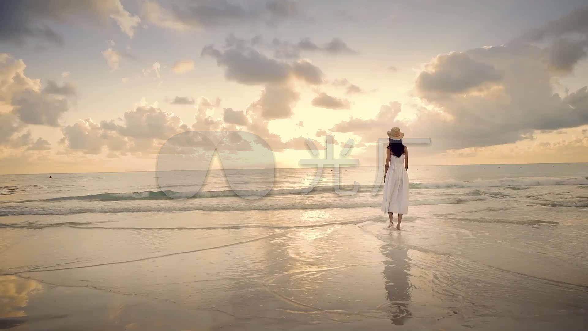 唯美a美女海边美女白裙美女女孩漫步_1920X1印度的v美女沙滩图片