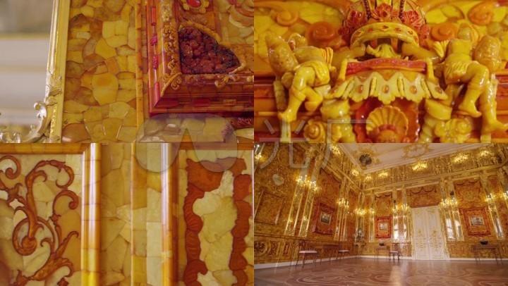 金碧辉煌的欧式宫殿皇宫_豪华黄金宫廷内景