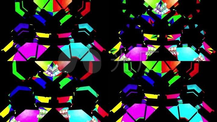 彩色创意方块动感动画素材