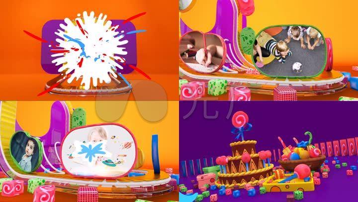 六一儿童节晚会欢乐童年放飞梦想AE模板