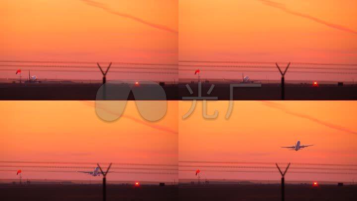 客机起飞大型页码起飞客机民航机_3840X216如何用word做旅途图片
