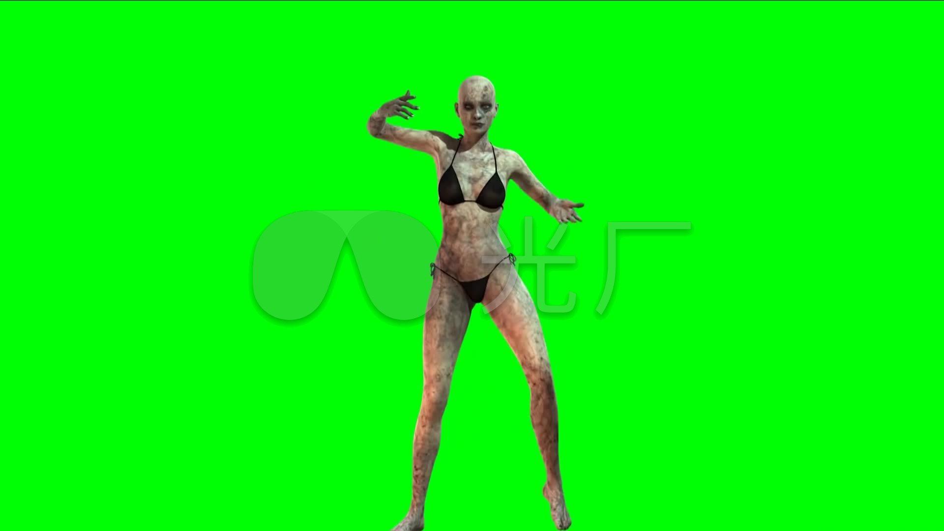 绿屏大全美女比基尼性感图片跳舞_1920X108特效性感杀大桥僵尸三国图片
