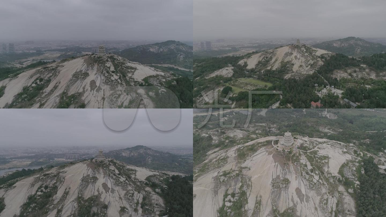 福建省泉州市石狮市宝盖山风景区航拍2(高
